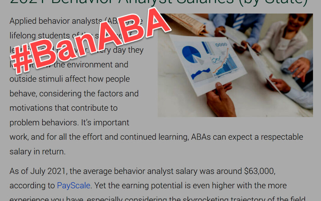 Letter to academics on ABA